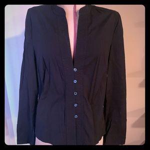 BCBG black dressy shirt size 8